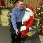 Erik Sitting with Santa